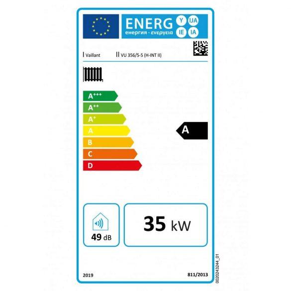 Energiacímke a VAILLANT ecoTEC Plus VU 356/5-5 (H-INT II)kondenzációs fűtő (cirkó) gázkazánhoz