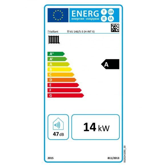 Energiacímke a VAILLANT ecoTEC Pro VU 146/5-3 (H-INT II)  kondenzációs fűtő (cirkó) gázkazánhoz
