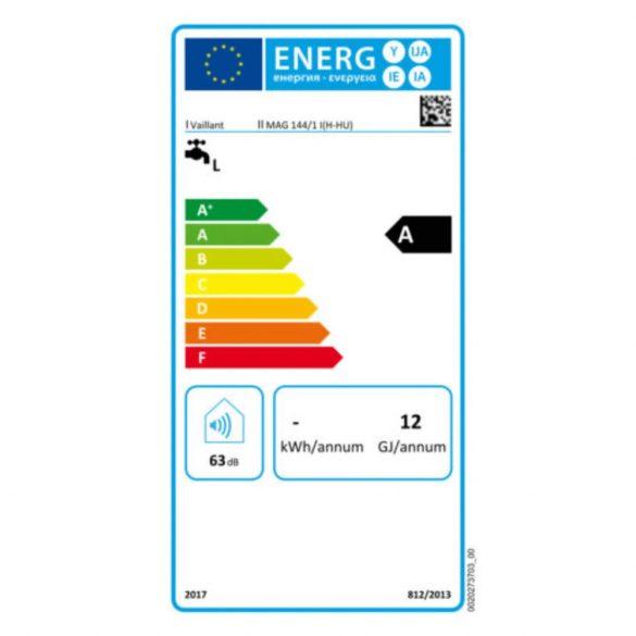VAILLANT atmoMag HU 144/1 l  ERP átfolyós vízmelegítő, gázüz, kém, 14l, 24kW