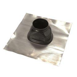Saunier Duval ferdetető átvezetés 5-25° tetőhöz, fekete színben 80/125mm