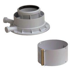 Saunier Duval koncentrikus indító idom PPs/alu 80/125mm (Isotwin Condens)