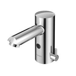 SCHELL Modus E elektronikus mosdó csaptelep, hőmérséklet-szabályozóval, pangóvíz védelemmel, 9V