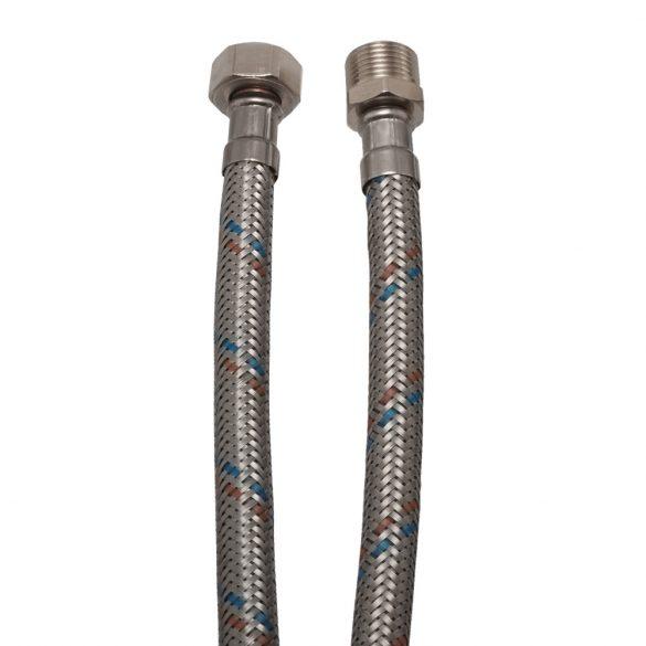 """KEF flexibilis bekötőcső vízre 50cmx1/2""""KB (MATEU)"""