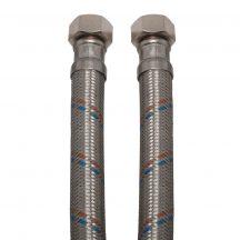 """KEF Gigant flexibilis bekötőcső vízre 40cmx3/4""""B (MATEU)"""