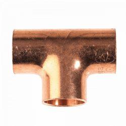 VIEGA 95130 forrasztható réz egál T-idom, 15mm