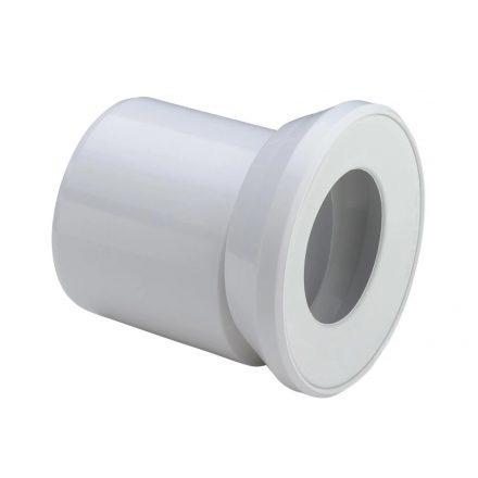 VIEGA 3815.1 WC csatlakozócsonk, excentrikus karmantyúval, fehér, DN110xL155mm