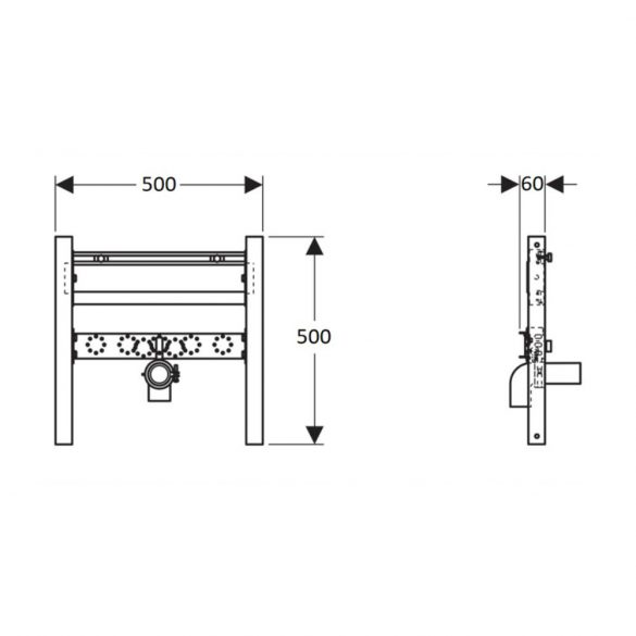 GEBERIT Duofix mosdó szerelőelem, álló csaptelephez, 50cm