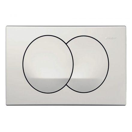 GEBERIT Delta20 nyomólap Basic WC-tartályhoz, 2 vízmenny, műanyag, fényes króm