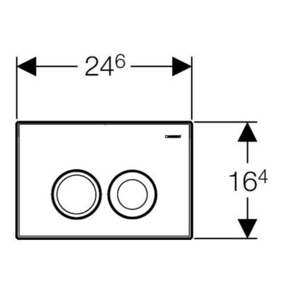 GEBERIT Delta21 nyomólap Basic WC-tartályhoz, fehér, (projekt termék)