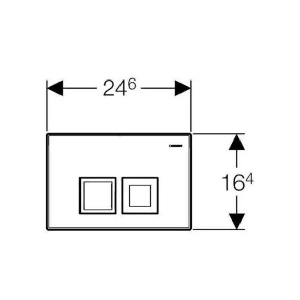 GEBERIT Delta50 nyomólap Basic-WC-tartályhoz, matt króm