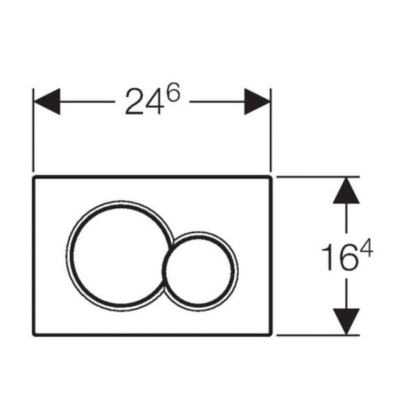 GEBERIT Sigma01 WC-nyomólap, 2 vízmennyiséges, matt króm