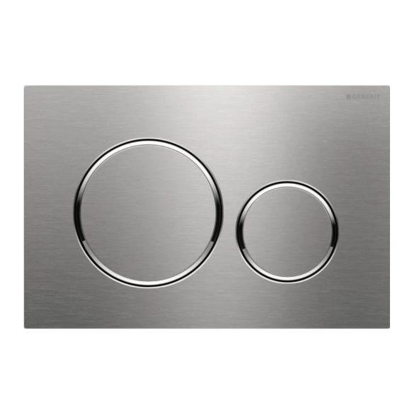 GEBERIT Sigma20 WC-nyomólap, UP320-hoz,2vízm,sz.csiszolt/f.króm/sz.csiszolt,inox