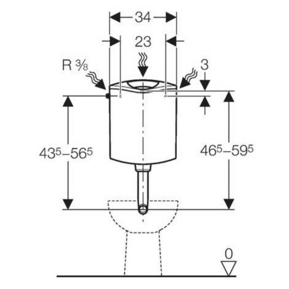 GEBERIT AP116plus alacsonyra szerelhető Natura WC-tartály tabletta tartóval