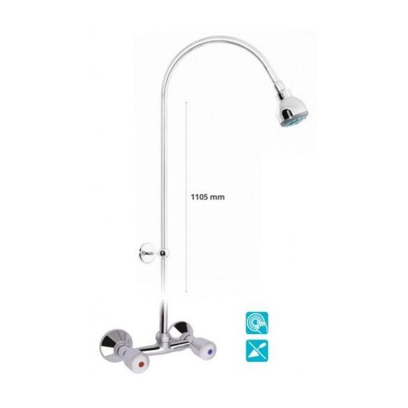 MOFÉM Eurosztár zuhany csaptelep, fix felszálló cső, zuhanyrózsa