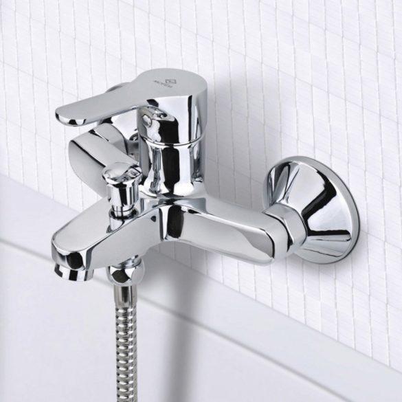 MOFÉM Pro kádtöltő csaptelep, egykaros, Basic zuhanyszettel
