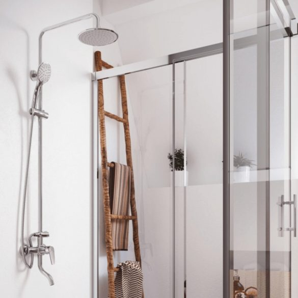 MOFÉM Zenit zuhanyrendszer egykaros csapteleppel, alsó kifolyócsővel