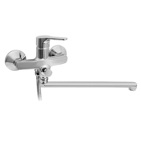 MOFÉM Junior Evo kád-mosdó (KMT) csaptelep, egykaros, zuhanyszettel, króm