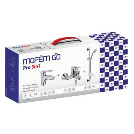 MOFÉM Go Pro 3in1 csomag, mosdó csaptelep + kádtöltő + Basic zuhanyszett