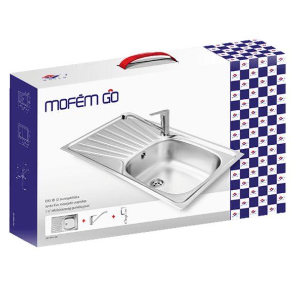 MOFÉM Go Evo 1B1D csomag (Evo egymedencés mosogató+Junior Evo mosogató csaptelep)