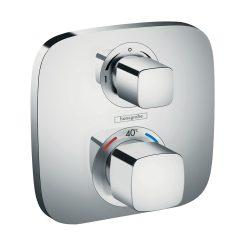 HANSGROHE Ecostat E falsík alatti termosztatikus zuhanycsaptelep, 2 fogyasztóhoz, króm kivitel