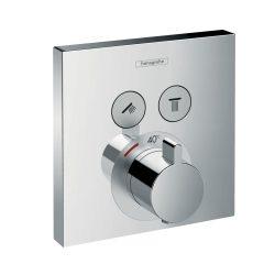HANSGROHE ShowerSelect falsík alatti termosztát, 2 fogyasztóhoz, króm kivitel