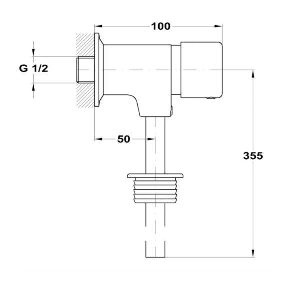 MOFÉM M-Press automata nyomógombos vizelde öblítőszelep méretek