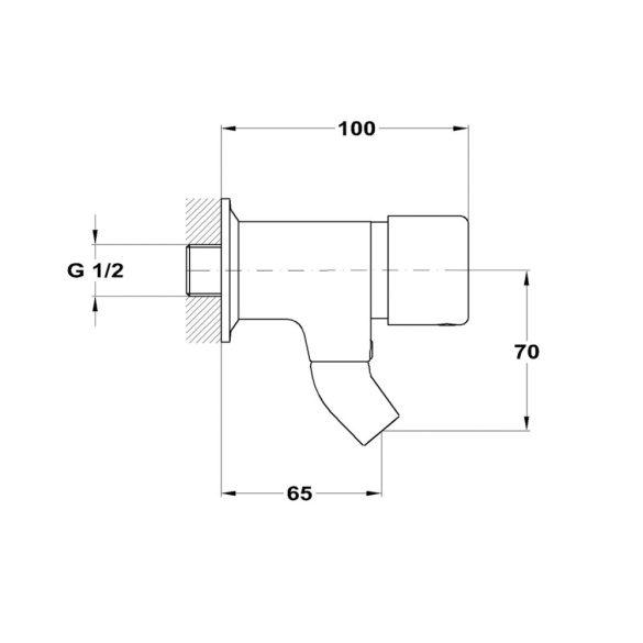 MOFÉM M-Press automata nyomógombos, fali ivókút szelep méretek