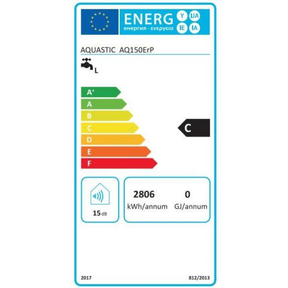 Energiacímke a HAJDU Aquastic AQ150 függőleges, fali, ERP tárolós, elektromos  vízmelegítőhöz