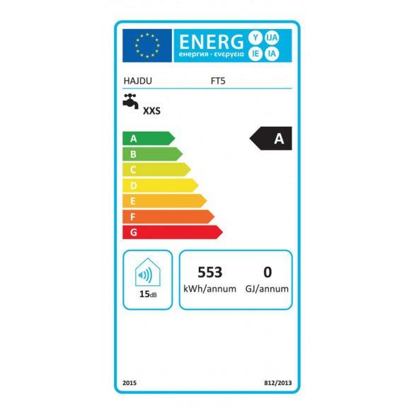 A HAJDU FTA5 nyílt rendszerű, elektromos, kétgombos, tárolós vízmelegítő méretei