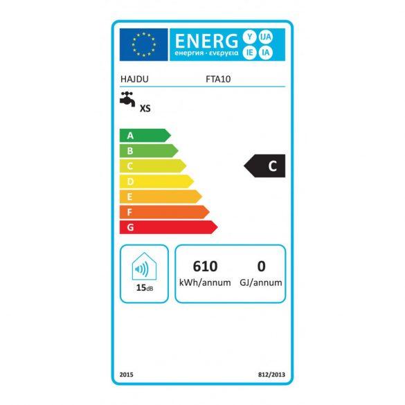 A HAJDU FTA10 nyílt rendszerű, elektromos, kétgombos, tárolós vízmelegítő méretei