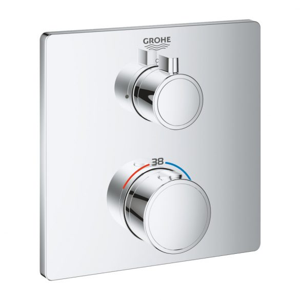 GROHE Grotherm termosztatikus zuhany csaptelep, szögletes, króm