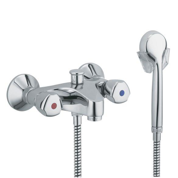 KLUDI Standard kádtöltő csaptelep, zuhanyváltó, vastag kifolyós