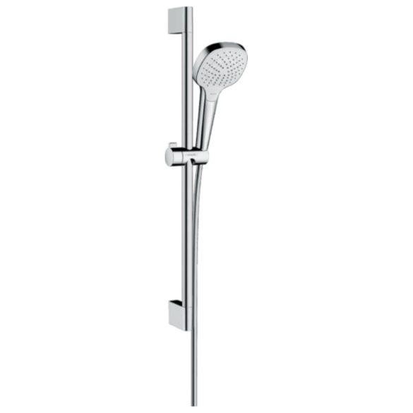 HANSGROHE Croma Select E zuhanyszett Vario 65cm-es zuhanyrúddal, króm/fehér kivitel