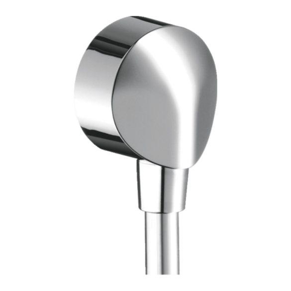 HANSGROHE Fixfit E fali zuhanygégecső csatlakozó, visszafolyásgátló nélkül, króm kivitel
