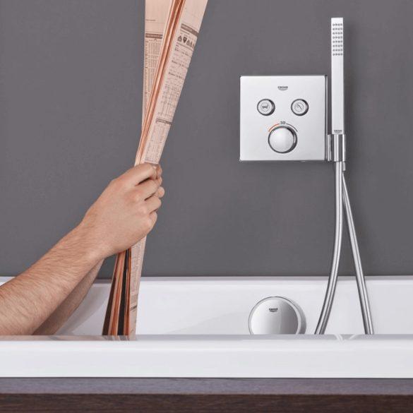 GROHE Grotherm SmartControl termosztatikus vezérlő, négyzet alakú, zuhanytartóval