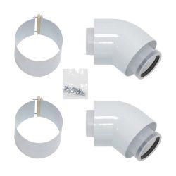 VAILLANT koncentrikus könyök 45° idom PPs/alu 80/125mm 2db