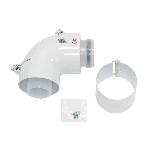 VAILLANT koncentrikus könyökidom 90°,tisztítónyílással, PP, D60/100