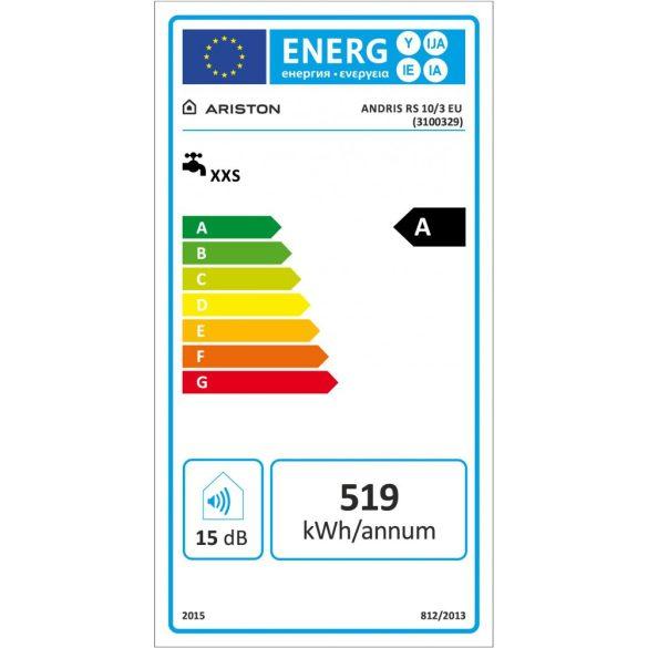 ARISTON AN RS 10 literes felső elhelyezésű villanybojler, ERP tárolós vízmelegítő energiacímke