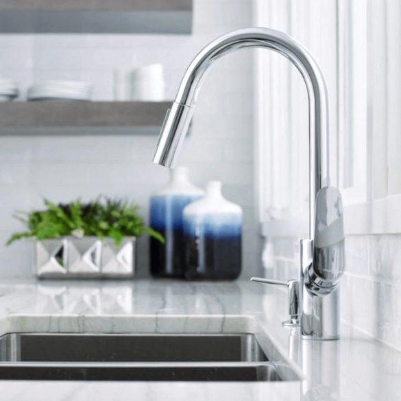 HANSGROHE Focus mosogató csaptelep, kihúzható zuhanyfejjel, króm