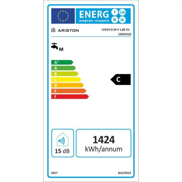 Energiacímke az ARISTON Lydos R 50 ERP tárolós, elektromos vízmelegítőhöz