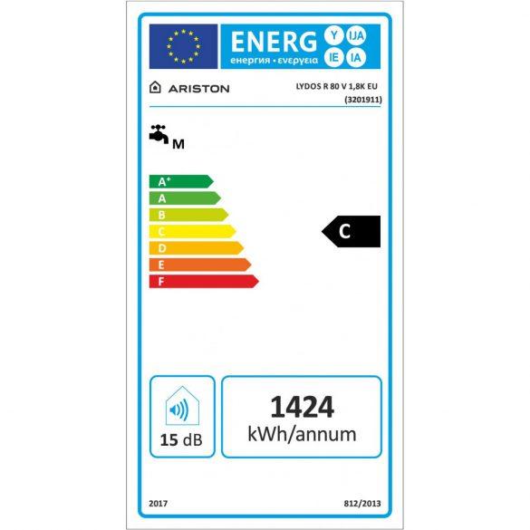 Energiacímke az ARISTON Lydos R 80 ERP tárolós, elektromos vízmelegítőhöz