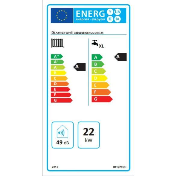 Energiacímke az ARISTON Genus One 24  kondenzációs kombi (cirkó) gázkazánhoz