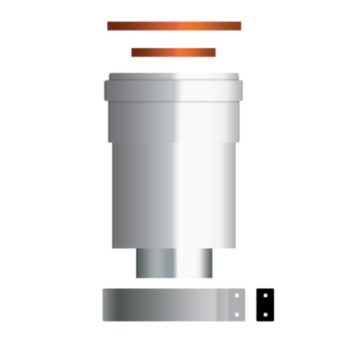 ARISTON koncentrikus függőleges indítóidom kond. kazánhoz, Alu/Pps, D60/100mm