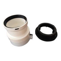 Ariston osztó adapter PPs/alu 60/100-2x80mm