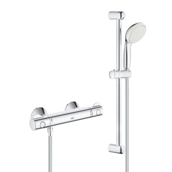 GROHE Grohtherm 800 termosztatikus zuhany csaptelep, zuhanyszettel, króm