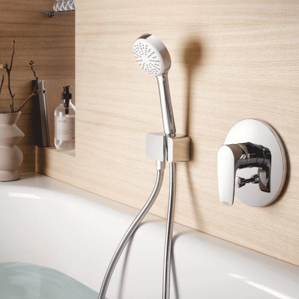 KLUDI látható rész Pure&Solid falba süllyesztett kád- és zuhanycsaptelephez, króm