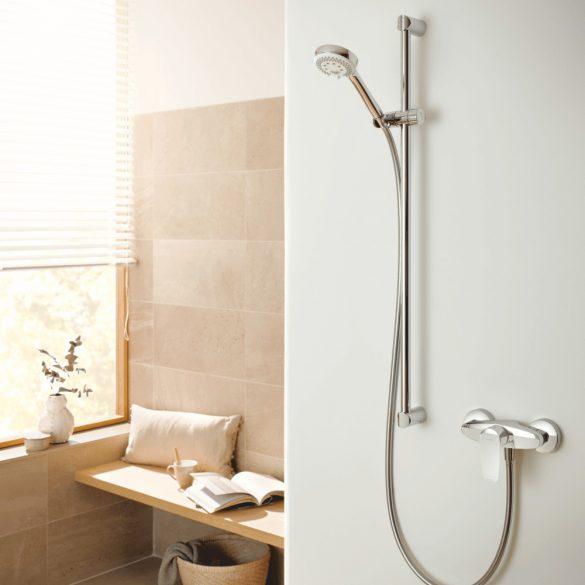 KLUDI Pure&Solid zuhanycsaptelep, egykaros, króm