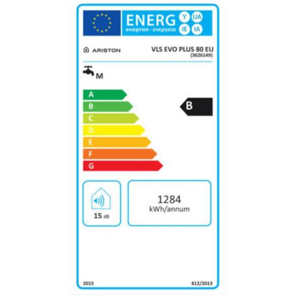 Az ARISTON Velis Evo Plus 80 EU ERP tárolós, elektromos vízmelegítő méterei