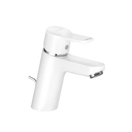 KLUDI Pure&Easy 70 egykaros mosdó csaptelep, automata leeresztőszeleppel, fehér/króm kivitel
