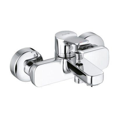 KLUDI Pure&Easy egykaros fali kádtöltő-és zuhany csaptelep, zuhanygarnitúra nélkül, króm kivitel